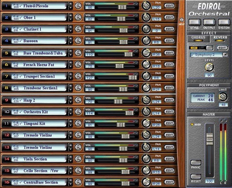 Edirol Orchestral | Free Download